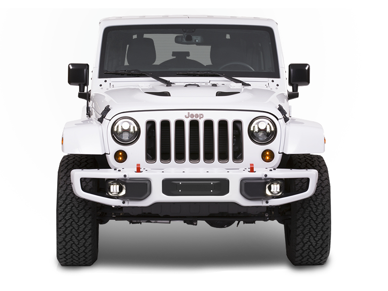 JW SPEAKER 6145 J2 Series LED Fog Light Kit for 07-18 Jeep Wrangler JK & JK Unlimited
