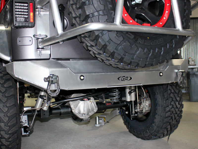GENRIGHT OFFROAD Aluminum Rear Bumper for 07-18 Jeep Wrangler JK & JK Unlimited