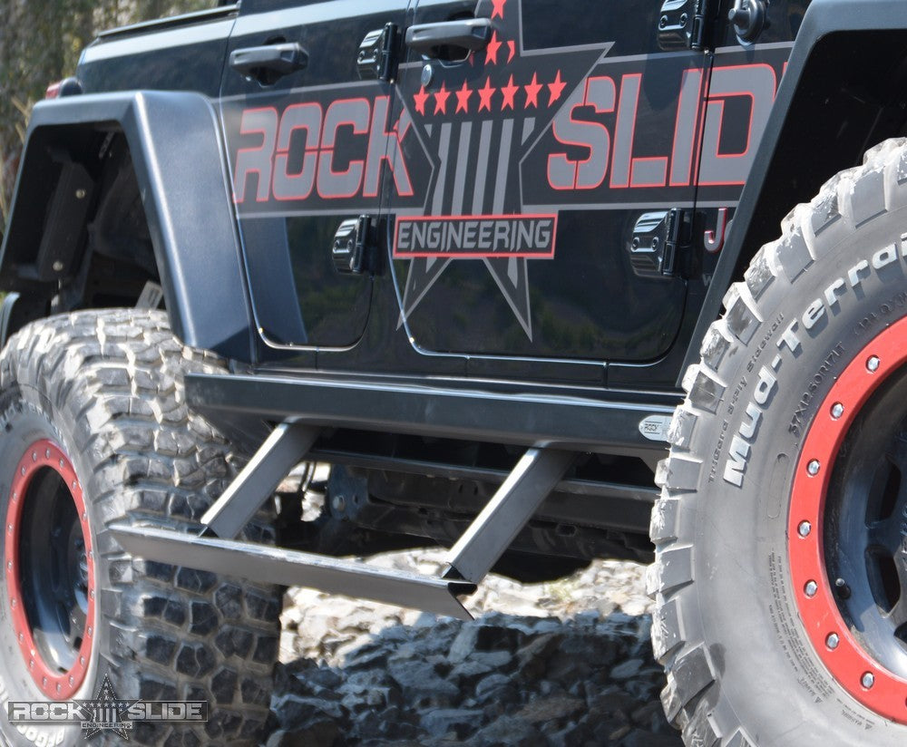 ROCK-SLIDE Step Slider Set for 18-up Jeep Wrangler JL & JL Unlimited