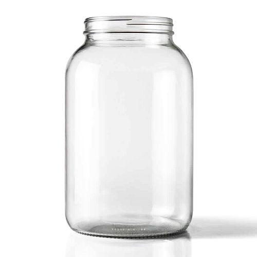 1 Gallon Wide Mouth Clear Glass Jar, 128 oz
