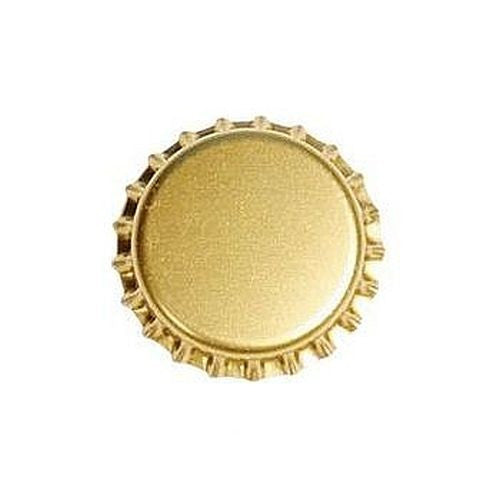 29MM Bottle Caps - Gold, 100 Count