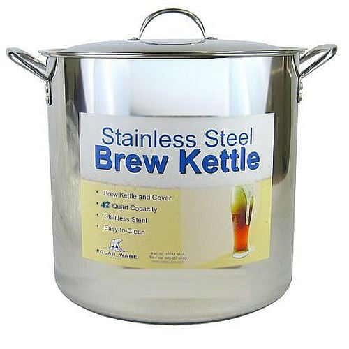 42 Quart Stainless Steel Brew Kettle w/Lid
