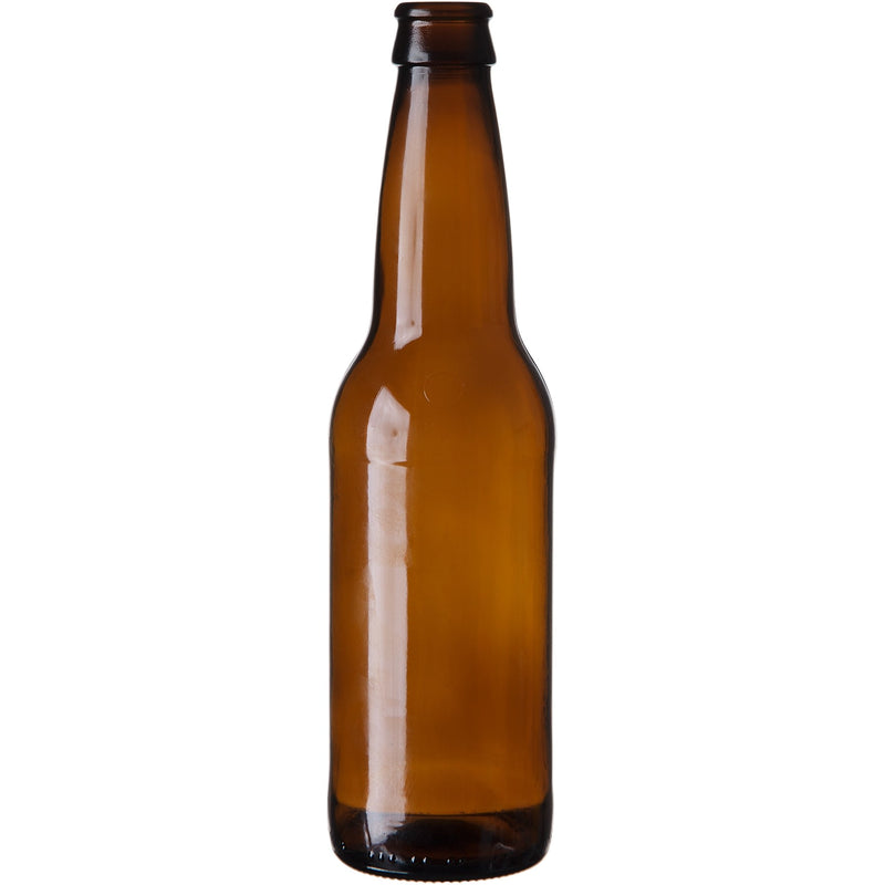 Longneck Beer Bottles - 12 oz, Amber - Case of 24