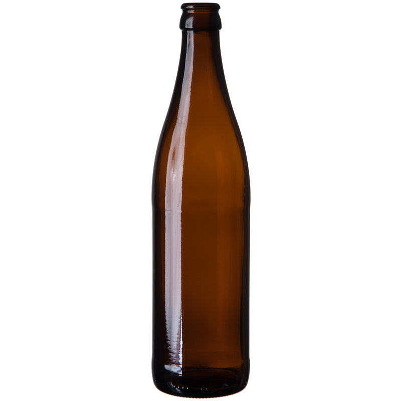 Vichy Beer Bottles - 500 ml, Amber - Case of 12