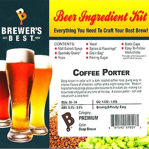 Coffee Porter Beer Ingredient Kit