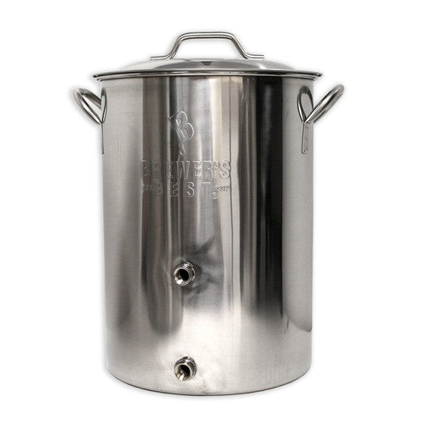 Brewer's Best 8 Gallon Stainless Steel Brew Kettle w/ Welded Dual Ports