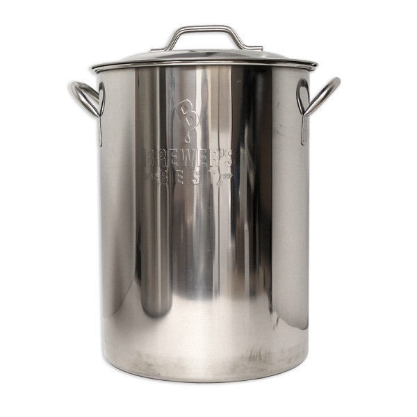 Brewer's Best 8 Gallon (32 Quart) Stainless Steel Brew Kettle w/ Lid