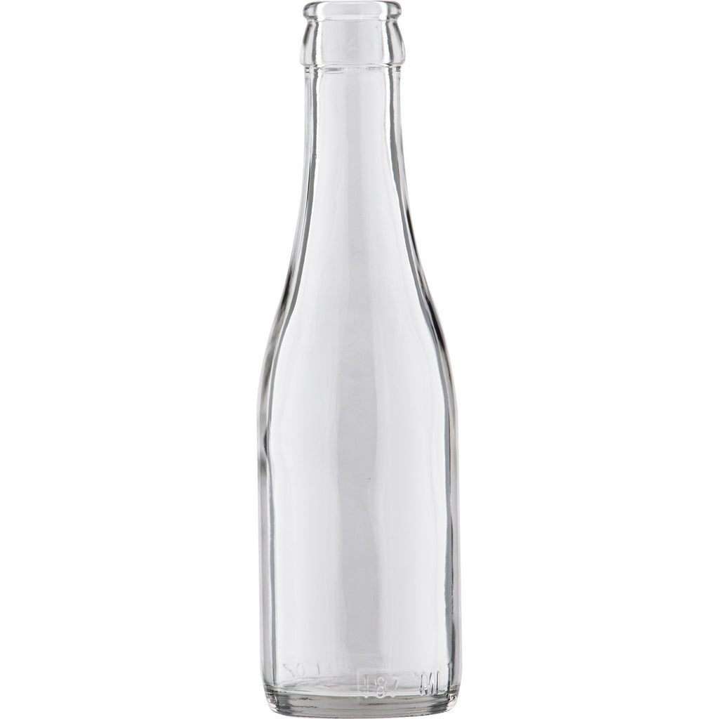 Champagne Bottles, Mini - 187 ml, Clear - Case of 24
