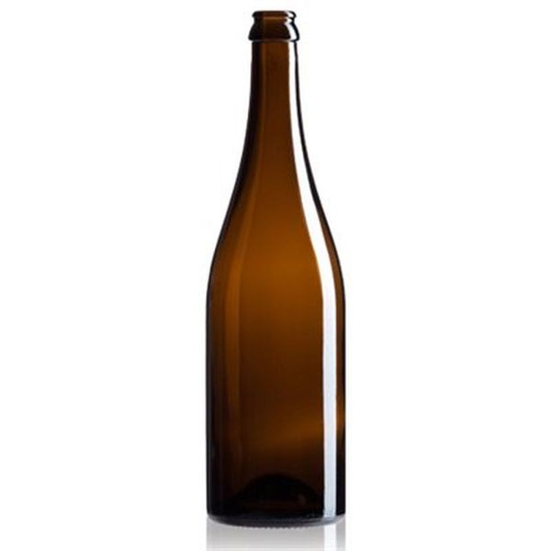 Champagne Bottles - 750 ml, Amber - Case of 12