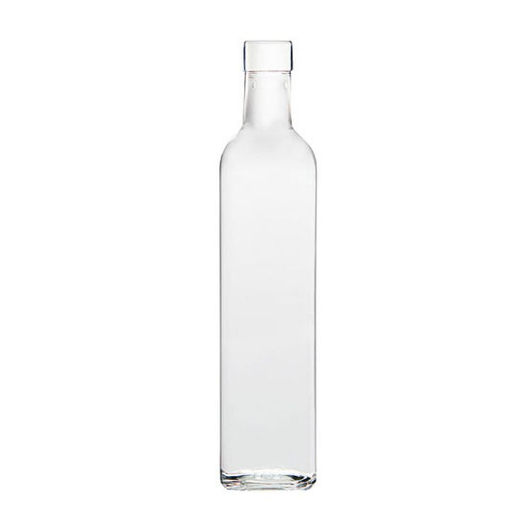 Quadra Square Bottles - 500 ml, Clear - Case of 12