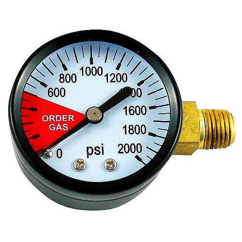 Regulator Replacement Gauge 0-2000 PSI Left Hand Thread