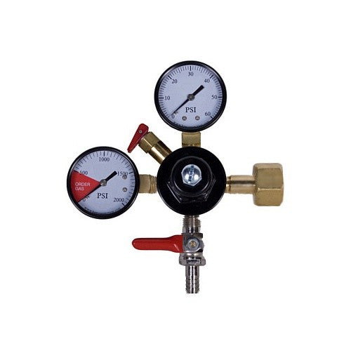 "CO2 Primary Regulator, Dual Gauge with 5/16"" Hose Barb"