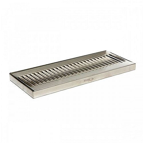 "Stainless Steel Drip Tray - Surface Mount 12"" x 5"""