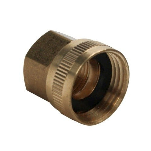 "1/2"" Female NPT to 3/4"" Female Garden Hose Swivel - Brass"