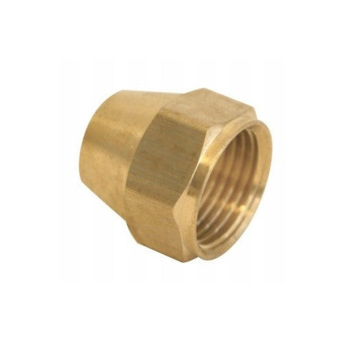 "Short Flare Nut - 1/4"", Brass"
