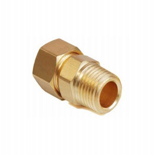 "3/8"" Compression to 1/2"" Male NPT - Brass"