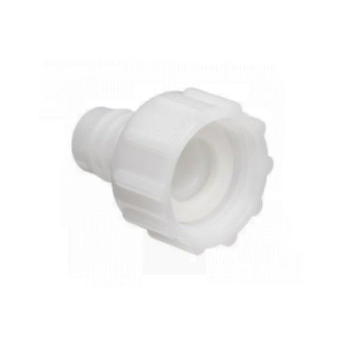 "3/8"" Hose Barb to 3/4"" Female Garden Hose Swivel - Nylon"