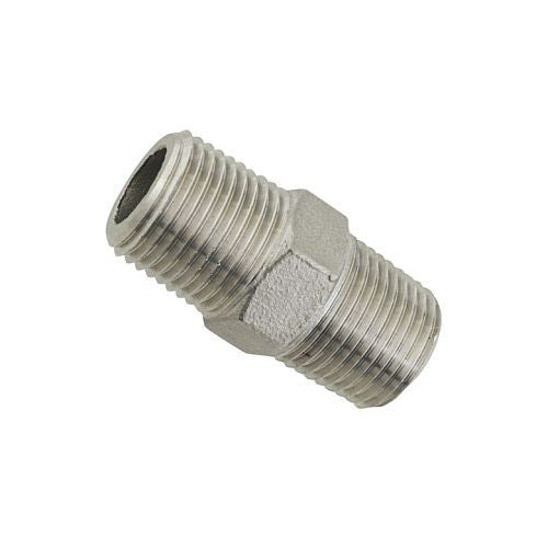 "1/2"" Hex Nipple - Stainless"