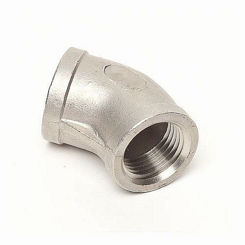"45 Degree Elbow 1/2"" Female NPT - Stainless"
