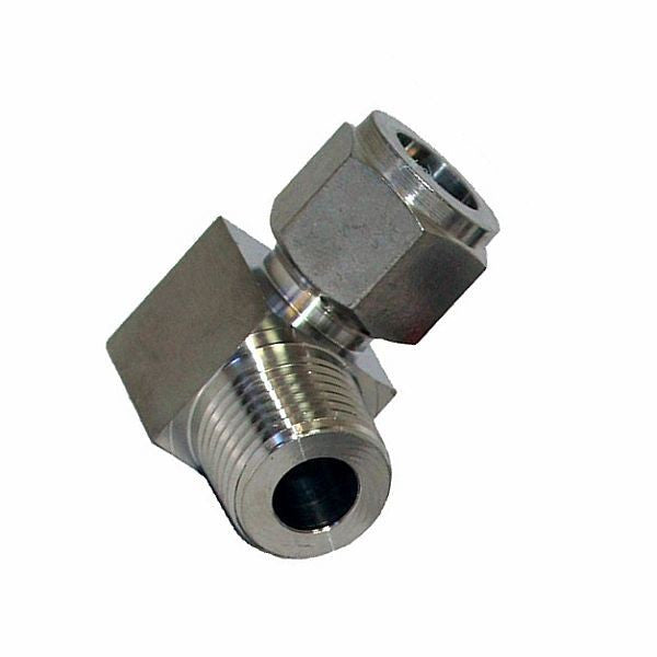 "1/2"" Compression to 1/2"" Male NPT 90 Degree Elbow- 304 Stainless Steel"