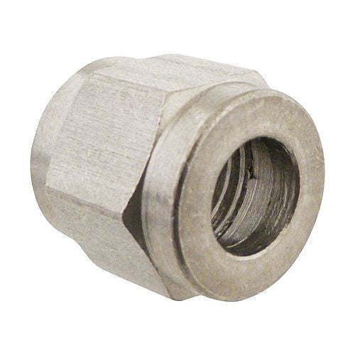 "Stainless Flare Nut - Accepts 1/4"" Flare Barb"