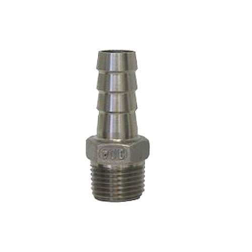 "5/8"" High Flow Hose Barb to 1/2"" Male NPT - Stainless"
