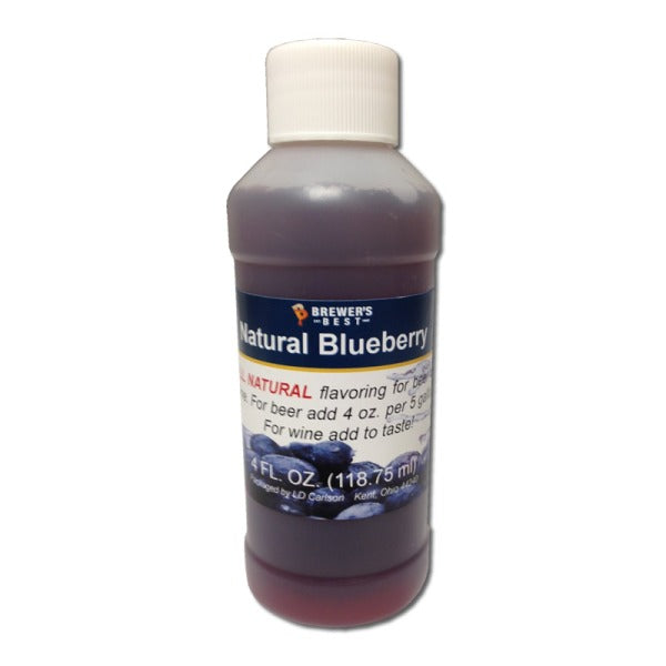 Natural Beer/Wine Flavoring - Blueberry, 4 oz