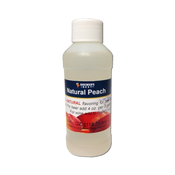 Natural Beer/Wine Flavoring - Peach, 4 oz