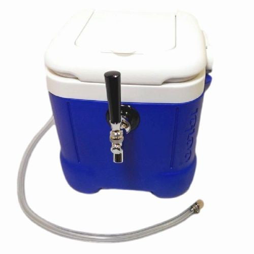 "Mini Jockey Box Cooler - Single Faucet, 50' 5/16"" Stainless Steel Coil, 12qt"