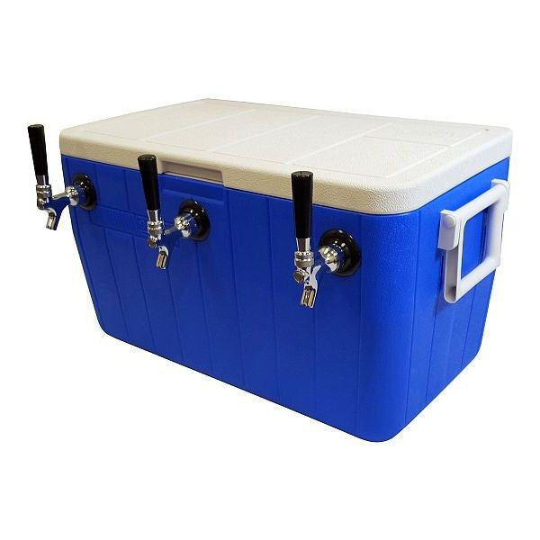 "Jockey Box Cooler - 3 Taps, 50' 5/16"" Stainless Steel Coils, 48qt"