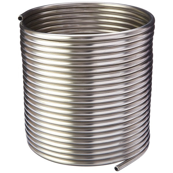"Stainless Steel Coil - 3/8"" x 50' - DIY Chiller, HERMS, Jockey Box"