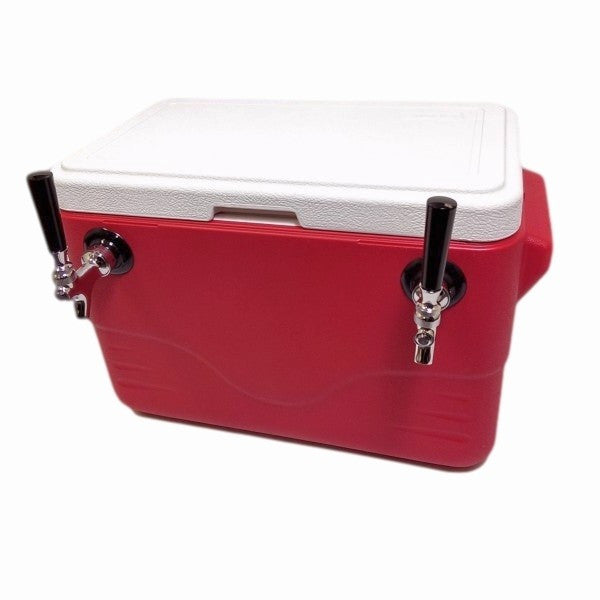 "Jockey Box Cooler - 2 Taps, 50' 5/16"" Stainless Steel Coils, 28qt"