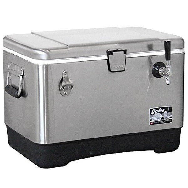 Stainless Steel Jockey Box Cooler - Single Faucet, 120' Stainless Steel Coil