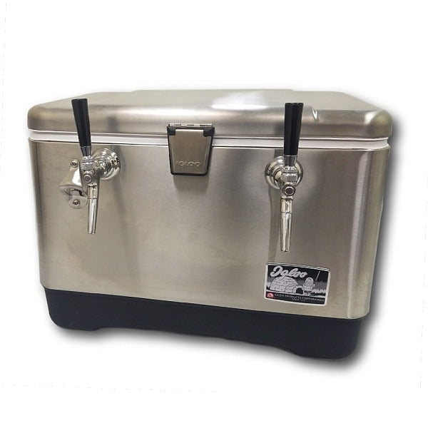 Stainless Steel Jockey Box Cooler - Two Faucet, 75' Stainless Steel Coils