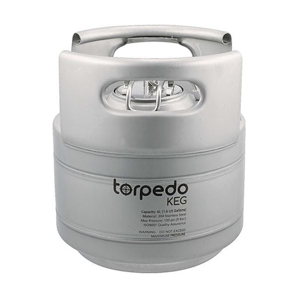 Ball Lock Torpedo Keg - 1.5 Gallon (6 Liter) All Metal
