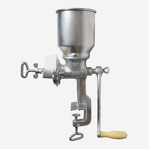 The Victoria Hand Cranked Grain Mill with High Hopper