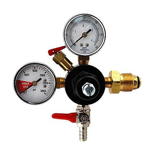 "Nitrogen Regulator, Dual Gauge with 5/16"" Hose Barb"