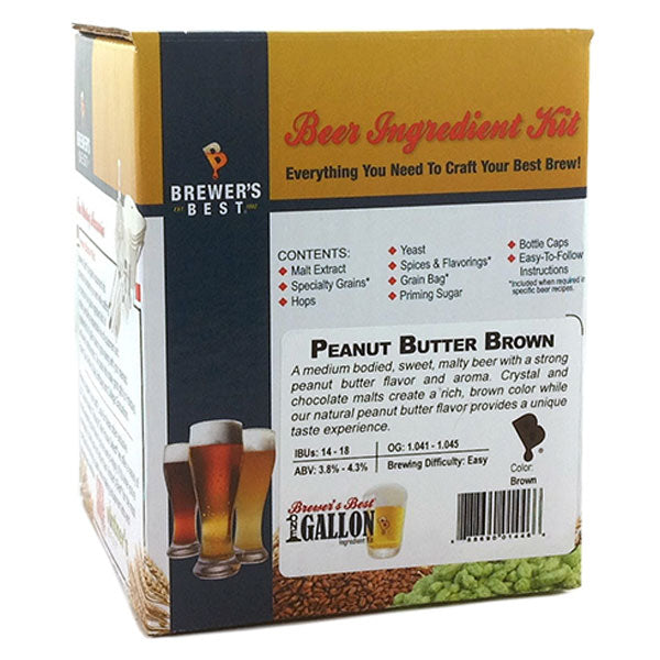 Brewer's Best Peanut Butter Brown Beer Kit - 1 Gallon