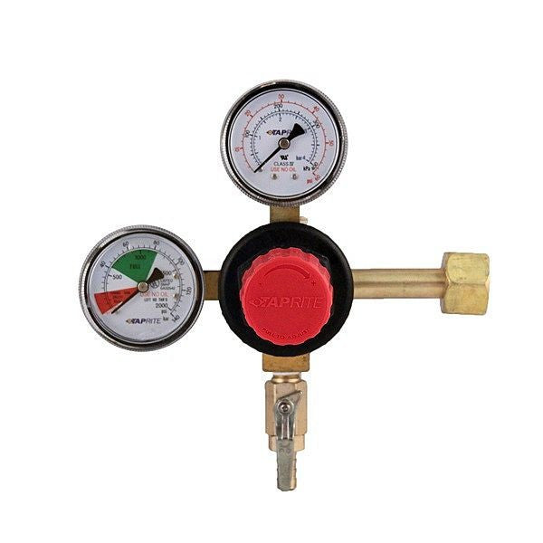 "High Performance CO2 Primary Regulator, Dual Gauge with 5/16"" Hose Barb"