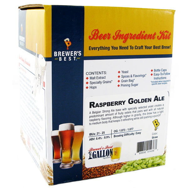 Brewer's Best Raspberry Golden Ale Beer Kit - 1 Gallon