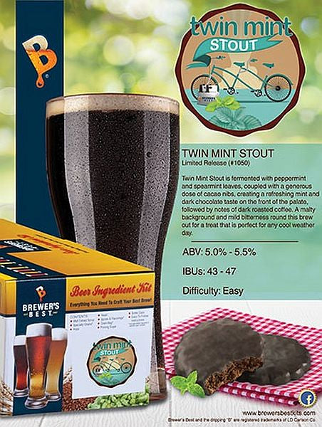 Brewer's Best Twin Mint Stout Beer Kit