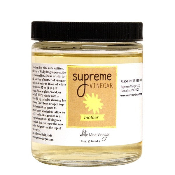 Supreme White Wine Mother of Vinegar, 8 oz