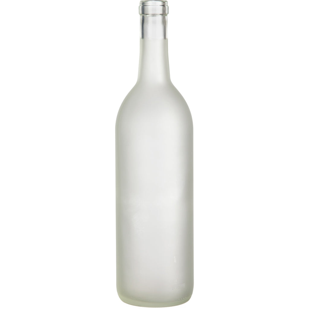 Bordeaux Wine Bottles - 750 ml, Frosted - Case of 12