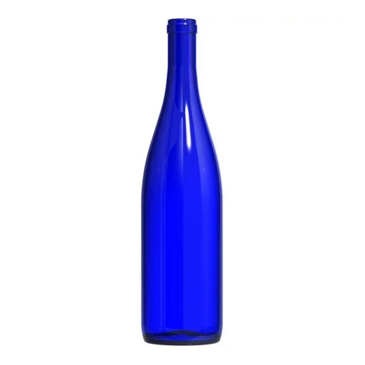 California Hock Wine Bottles - 750 ml, Cobalt Blue - Case of 12