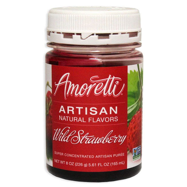 Amoretti Artisan Natural Flavor - Wild Strawberry, 8 oz