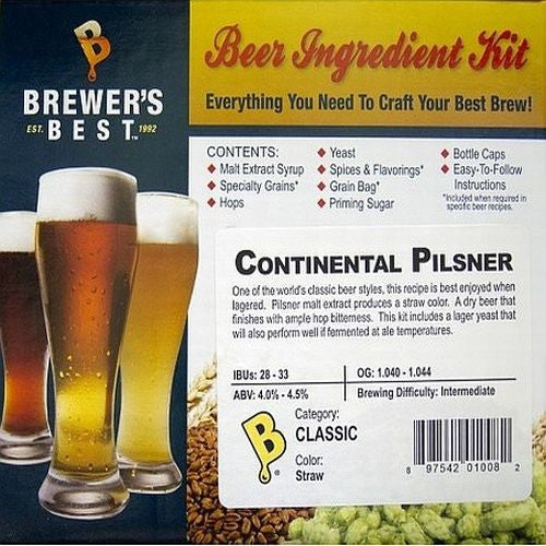 Brewer's Best Continental Pilsner Beer Kit