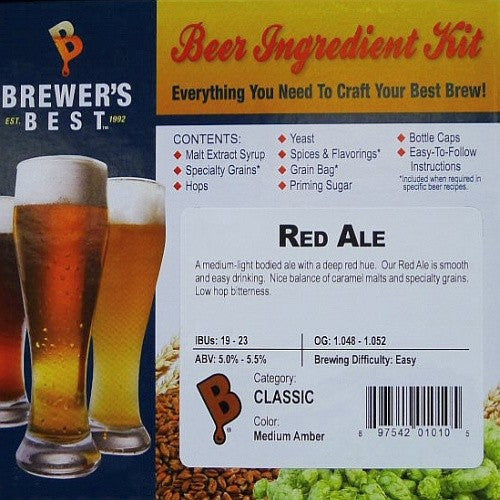 Brewer's Best Red Ale Beer Kit
