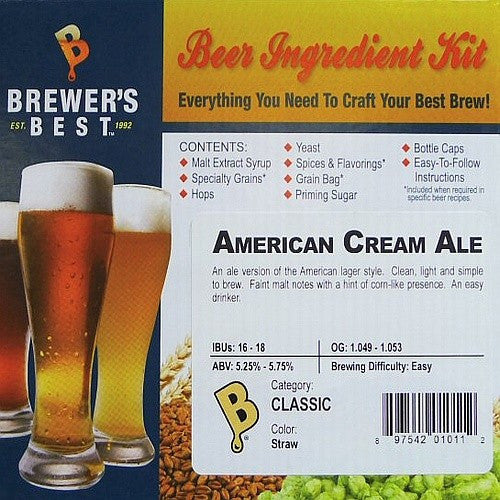 American Cream Ale Beer Ingredient Kit