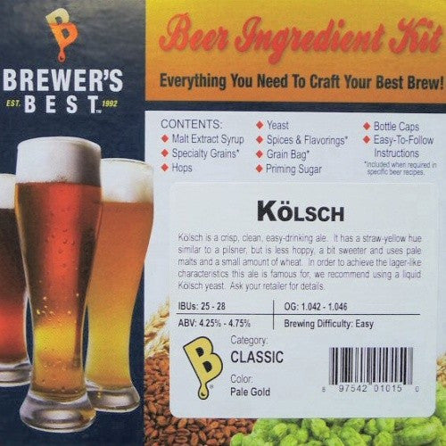 Brewer's Best Kolsch Beer Kit