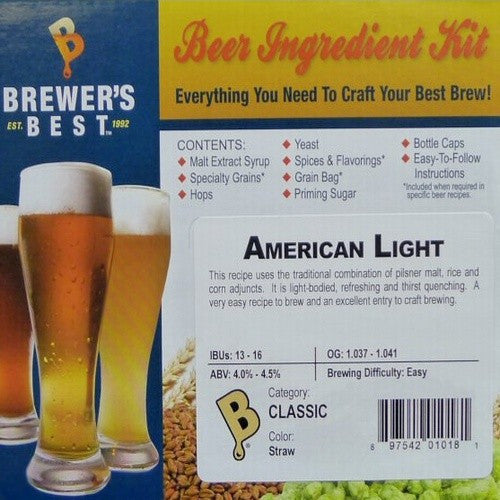 American Light Beer Ingredient Kit